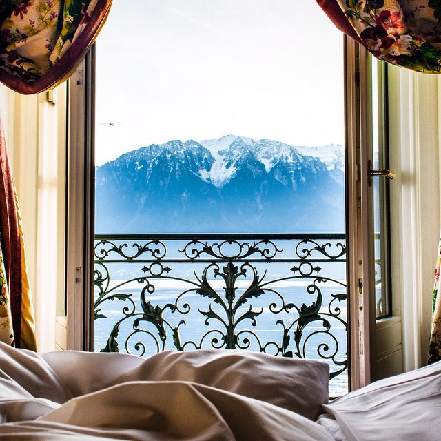 @nodestinations  wakes up to this view in Vevey, Switzerland