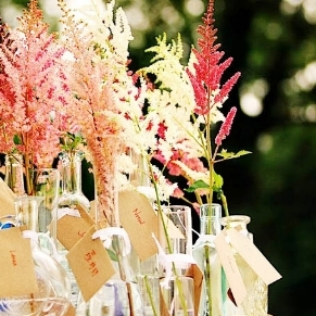 INTIMATE WEDDINGS   ____ Unique Wedding Ceremony Ideas : DIY Astilbe Bouquet