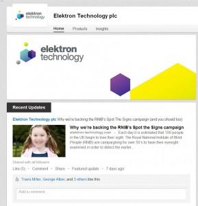 LinkedIn Elektron Technology
