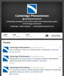 Cambridge Phenomenon on Twitter