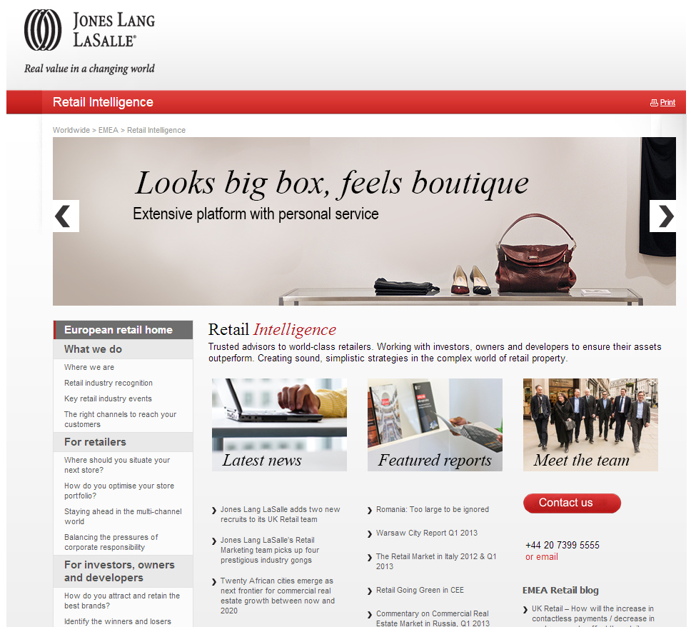 Copywriting for Jones Lang LaSalle