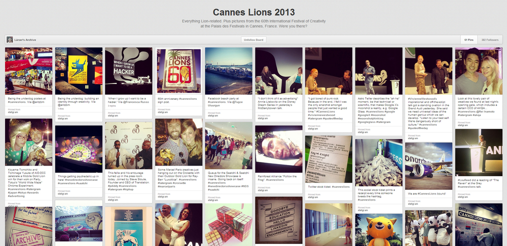 Cannes Lions 2013 board on Pinterest