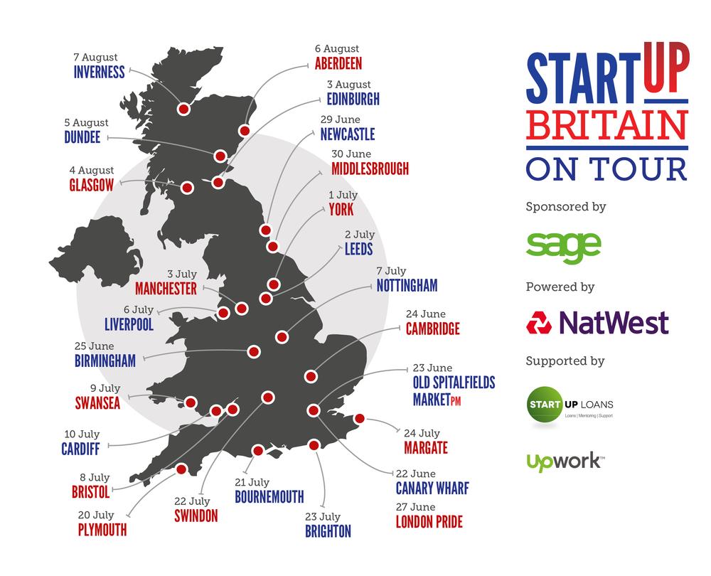 StartUp Britain bus tour and Sookio