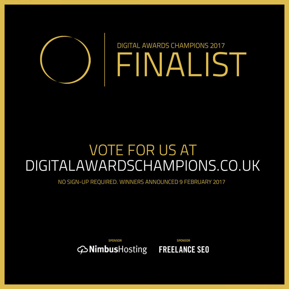 Cambridge Digital Awards 2016 Gold Award Winner