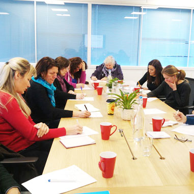 A snap OF concentrating ATTENDEES AT THE INTRODUCTION TO DIGITAL MARKETING WORKSHOP ON 14 JANUARY.