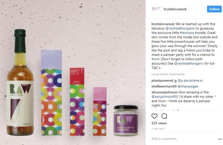Instagram Giveaway BRYT Skincare