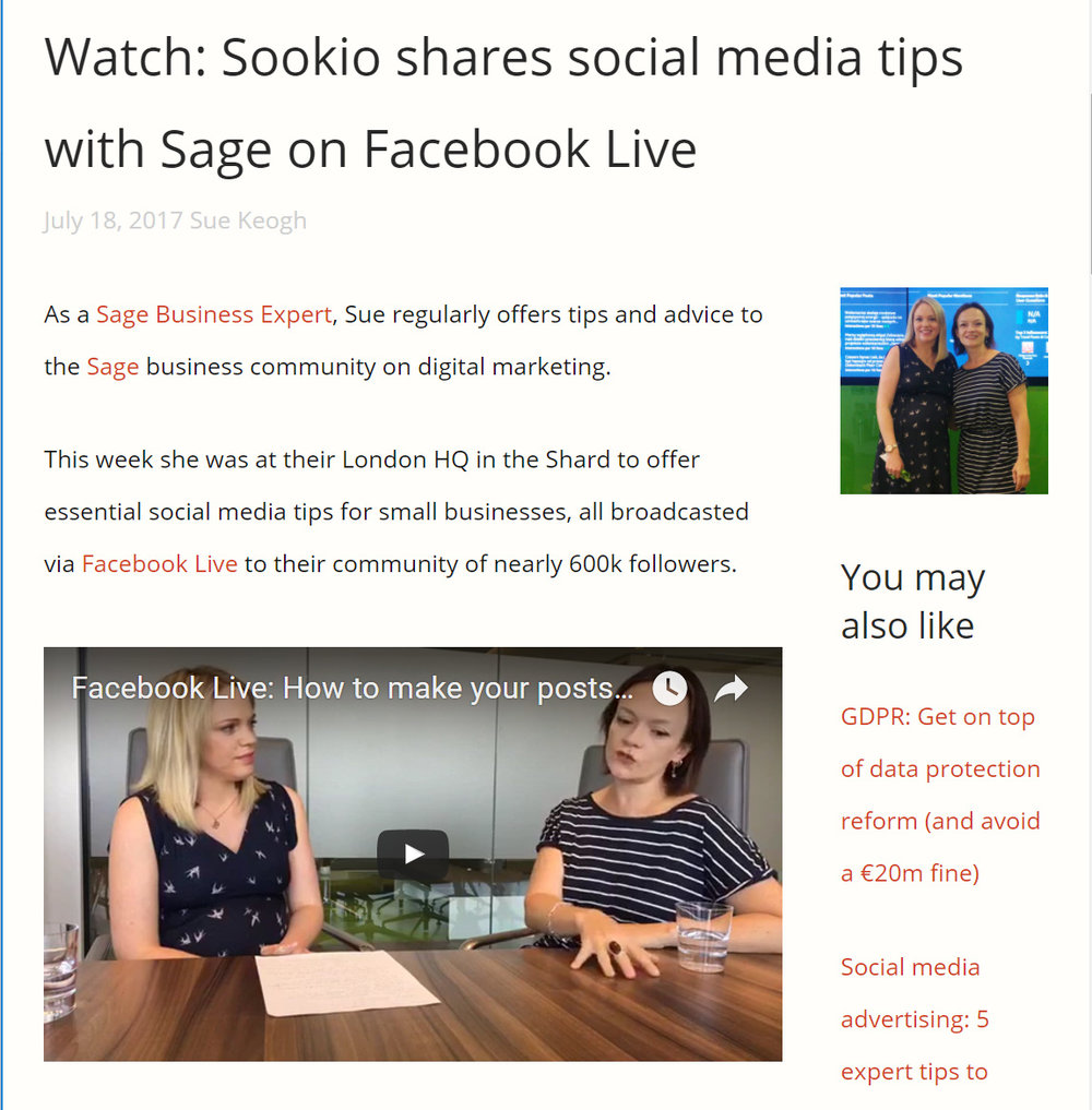 Posts on the Sookio blog