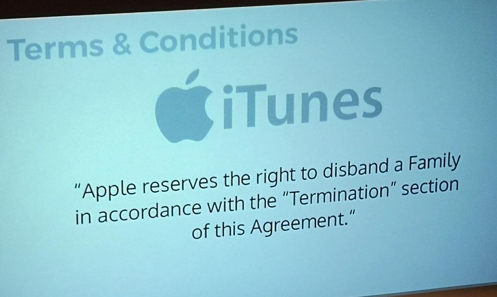 Joe Macleod Apple terms conditions