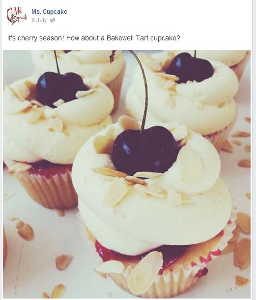 Ms Cupcake Facebook page