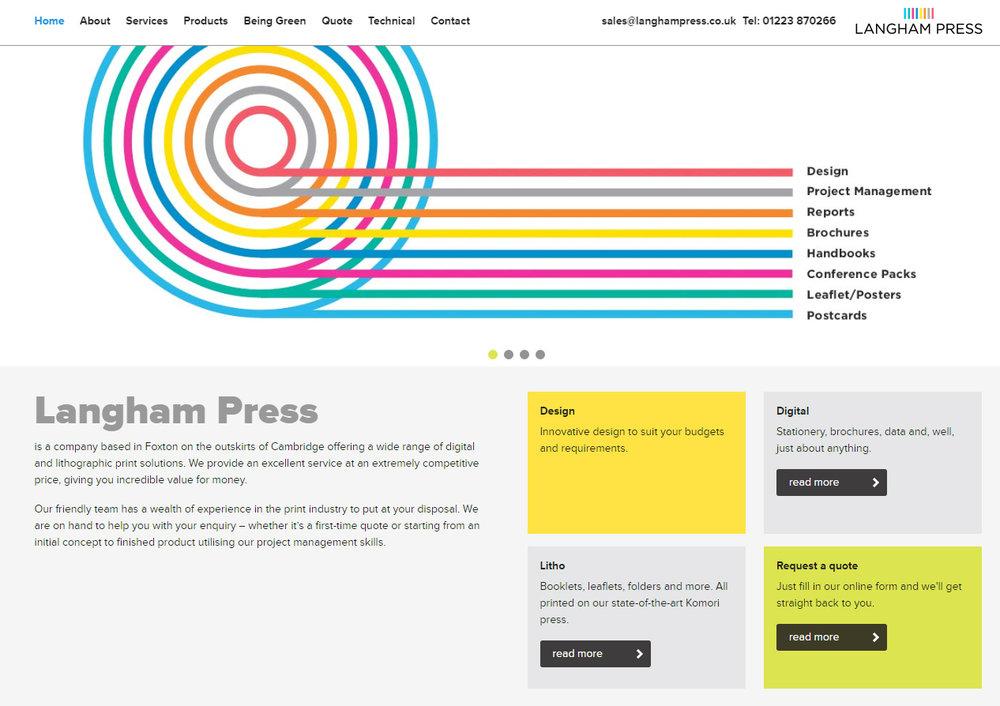 Copywriting for Langham press
