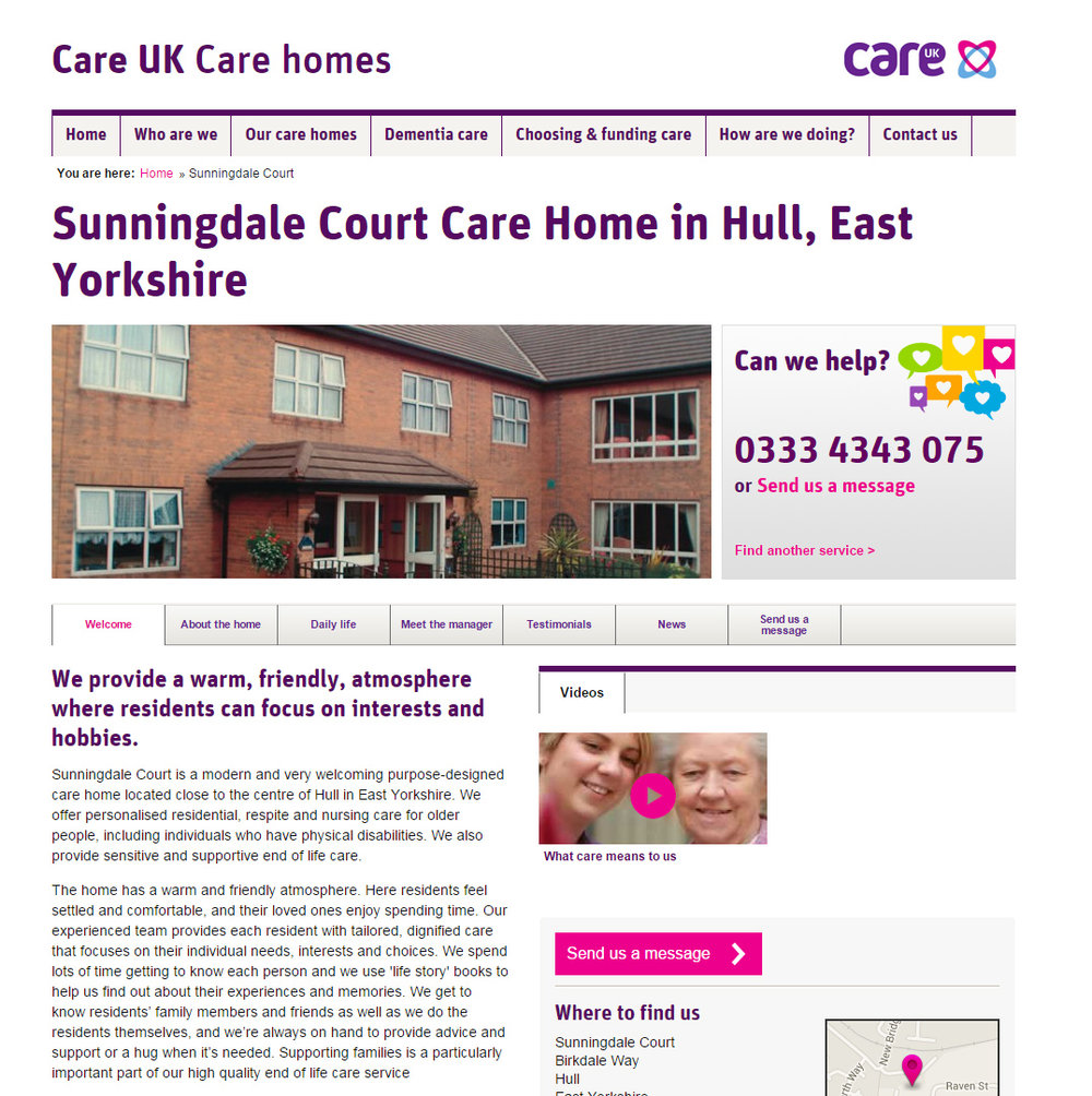 Copywriting for Care UK