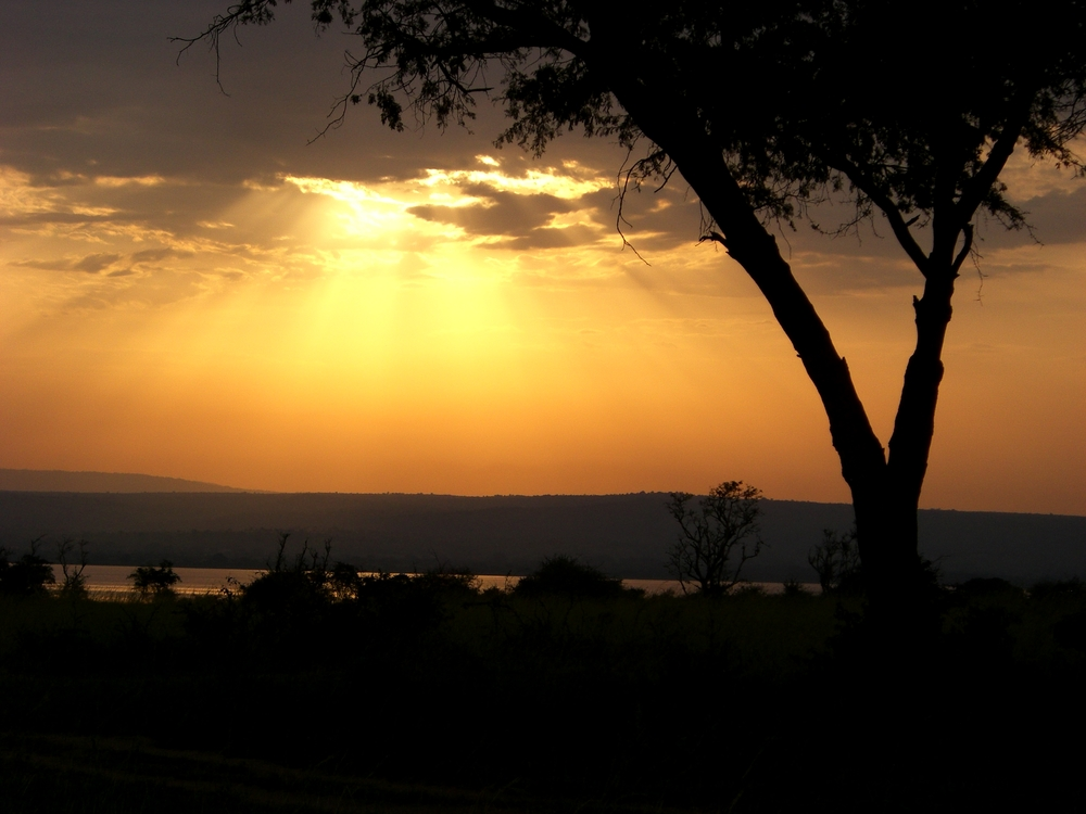 An African sunset, taken in the summer of 2008