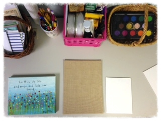 My workspace in my office. The painting on the left was a gift from my Mom, by an artist in Kansas City.