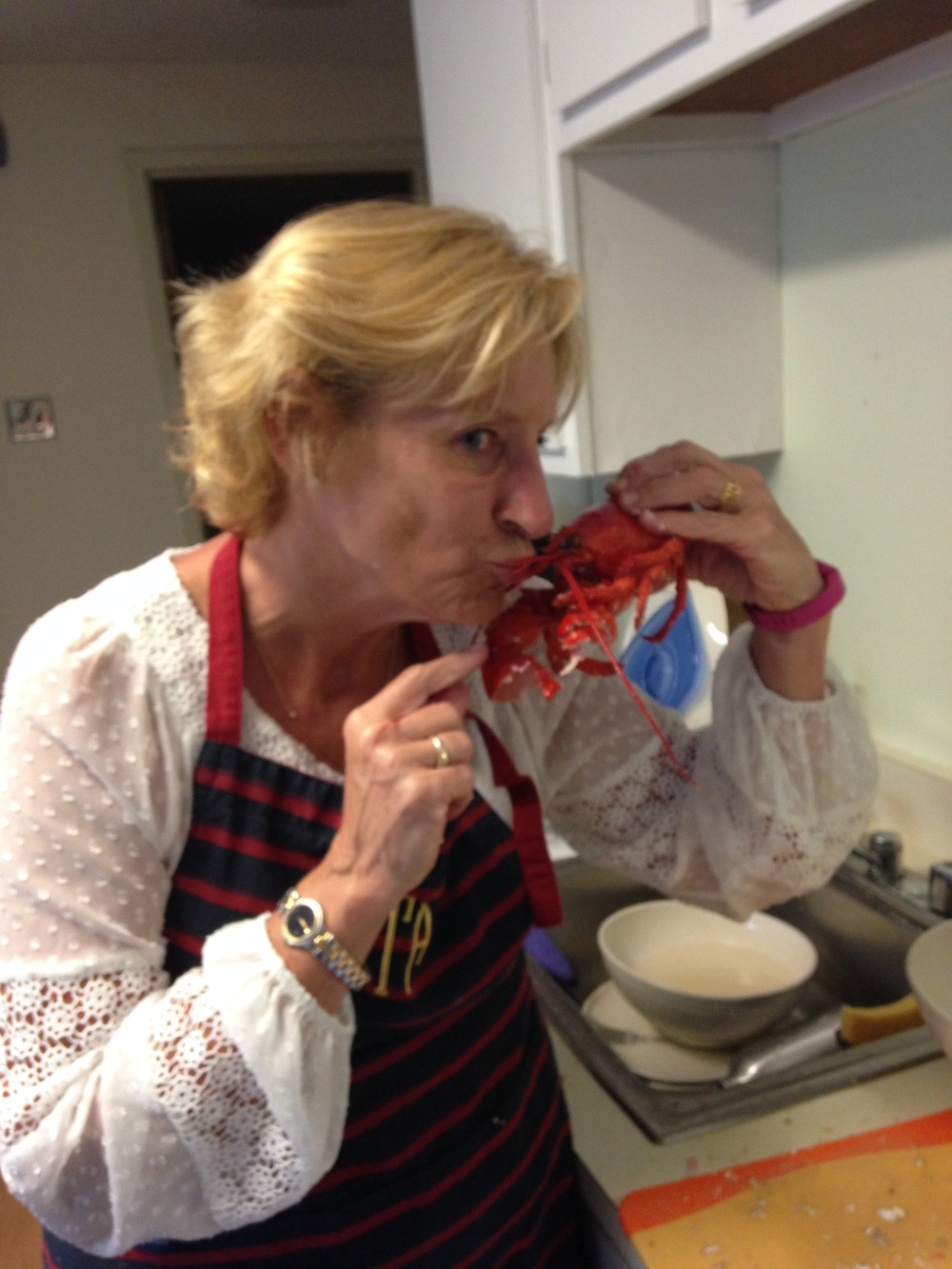 This is not the first, nor the last, lobster my mother would kiss.