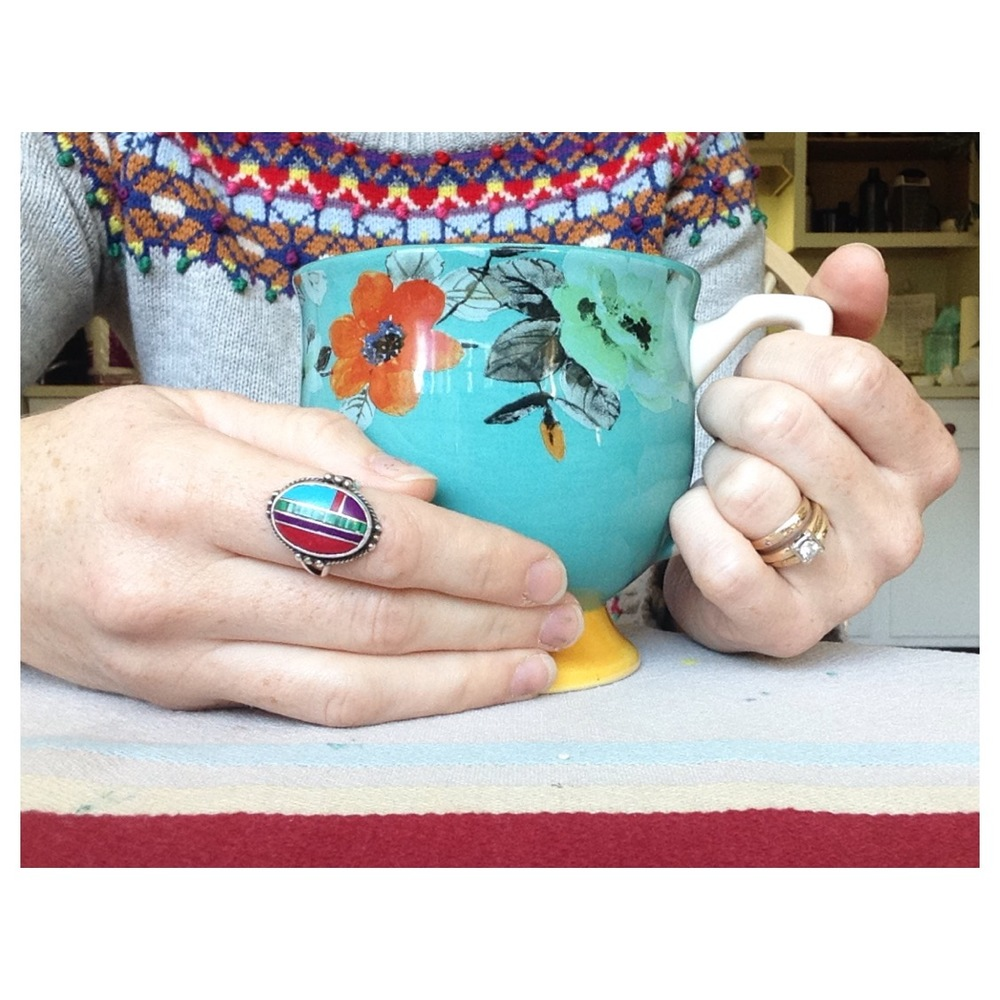 When your mug matches your sweater matches your ring.