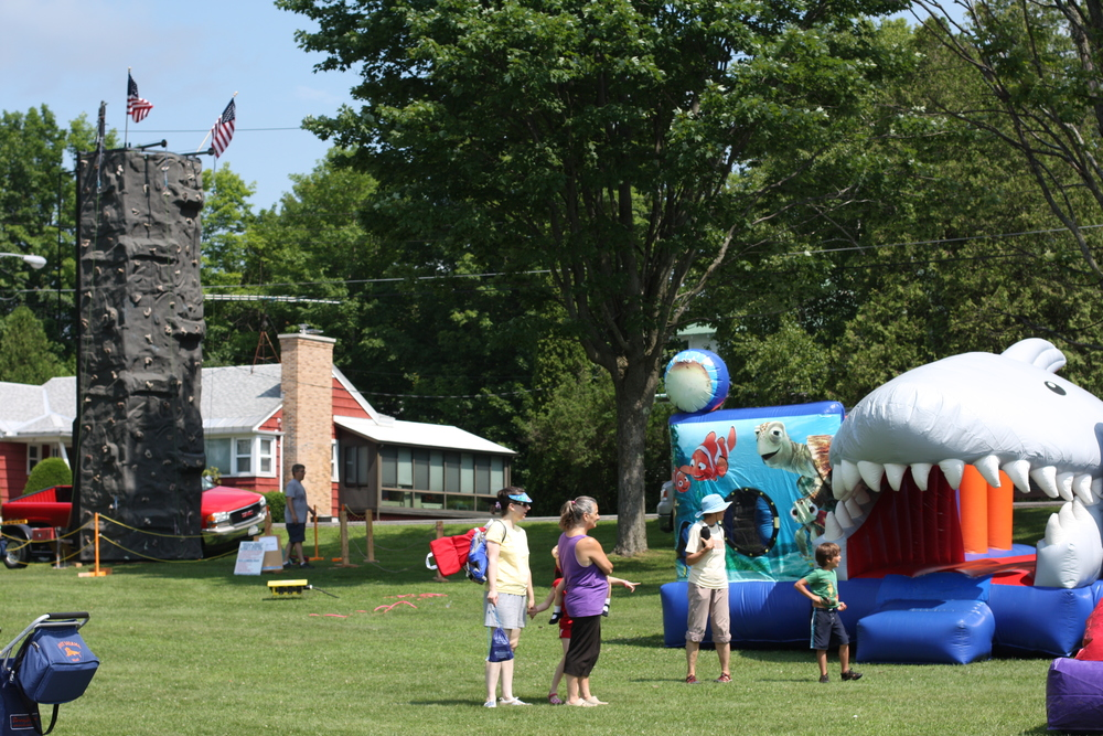 A load of fun for kids. July 4th, Town Park. Schroon Lake.