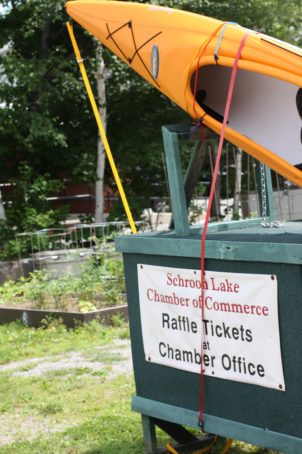 Buy your raffle tickets  for the annual Kayak Raffle. Proudly sponsored by the Schroon Lake Chamber of Commerce.