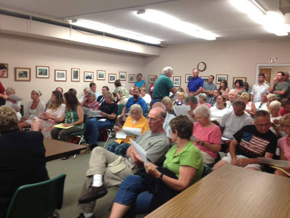 Part of the standing room only crowd at the Town Board Meeting Monday night.