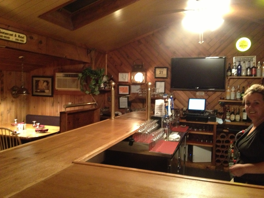 The newly, expanded bar