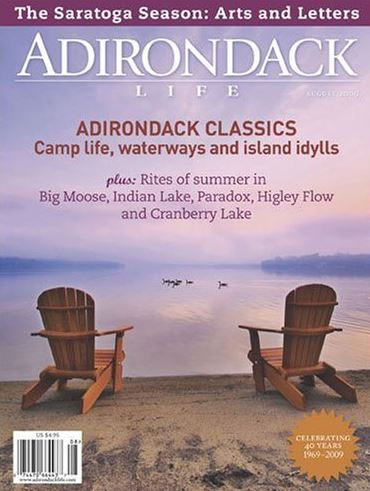 A classic Adirondack Life Magazine cover from 2009, featuring a classic view