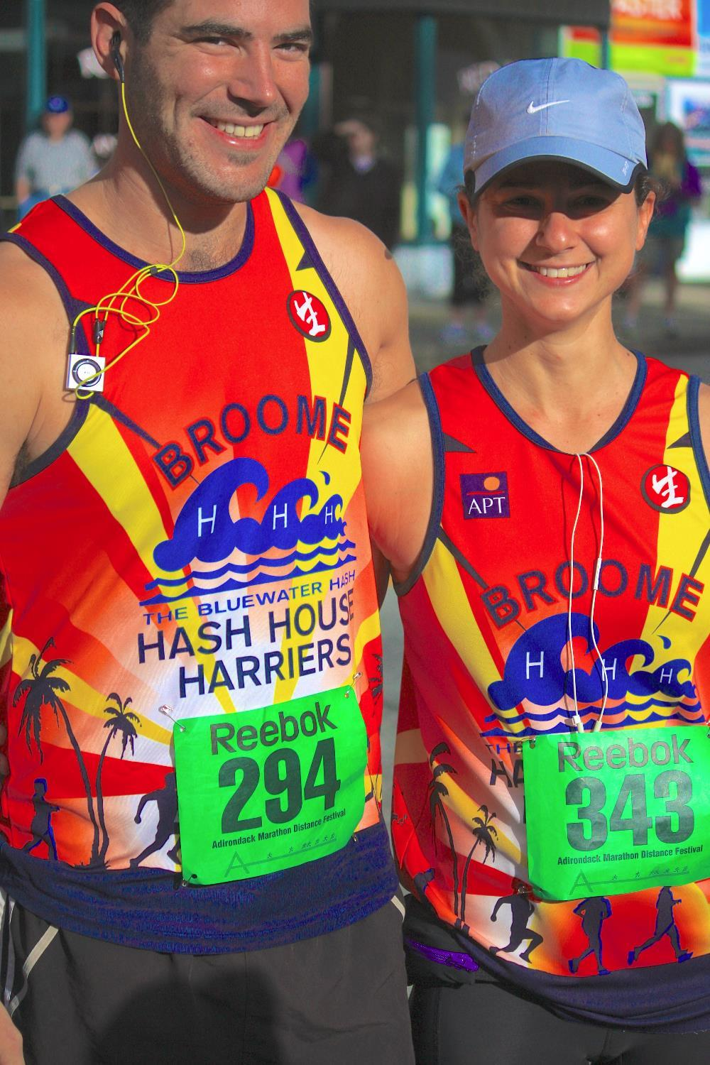 "Josef Pagel and Ayala Seligson, who hail from Broome, Western Australia, where they run for the Blue Water Hash House Harrier Club, aka ""Broome Hash"""
