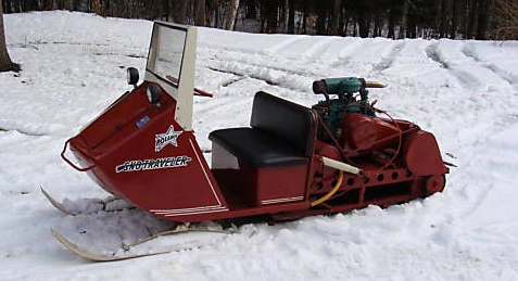 A restored Polaris Sno Traveler from the 1950s