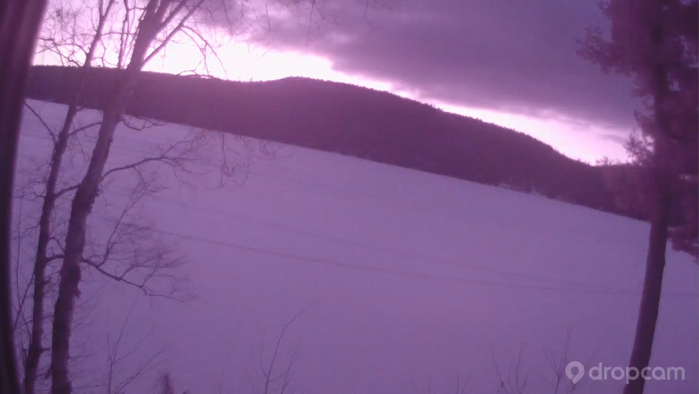 Just before 7am Tuesday morning. From The Schroon Laker Dropcam.