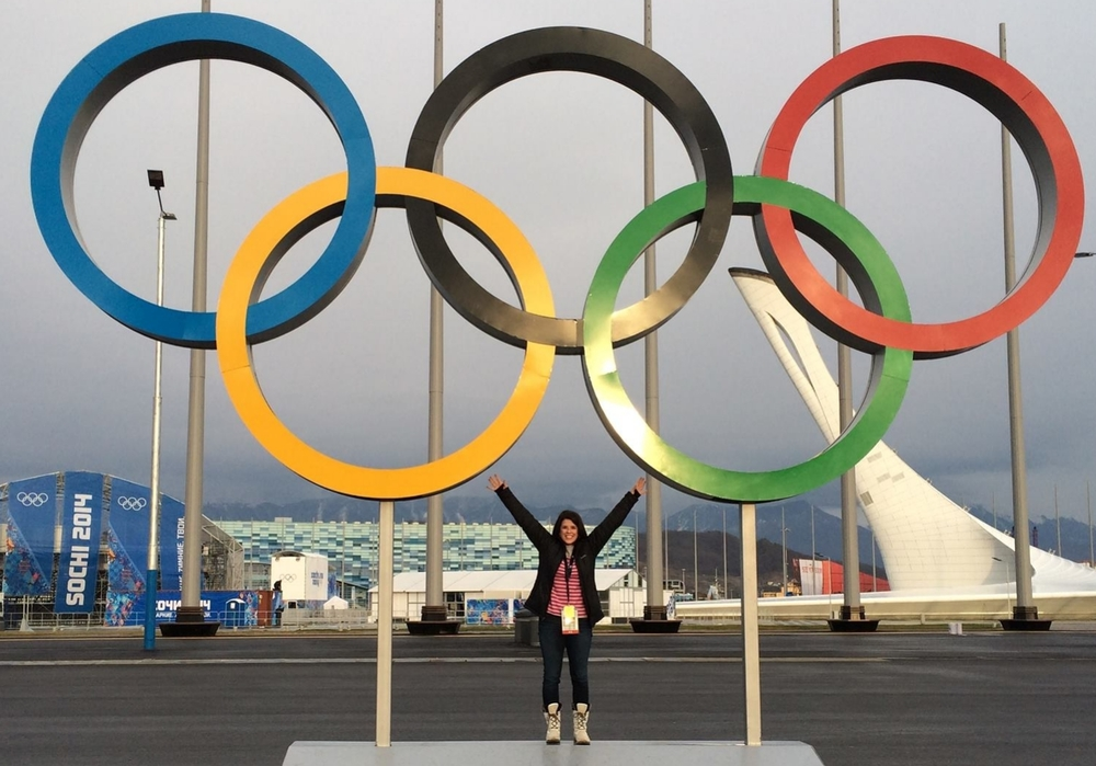 Shelia Conolly at one of the most photographed sites in Sochi