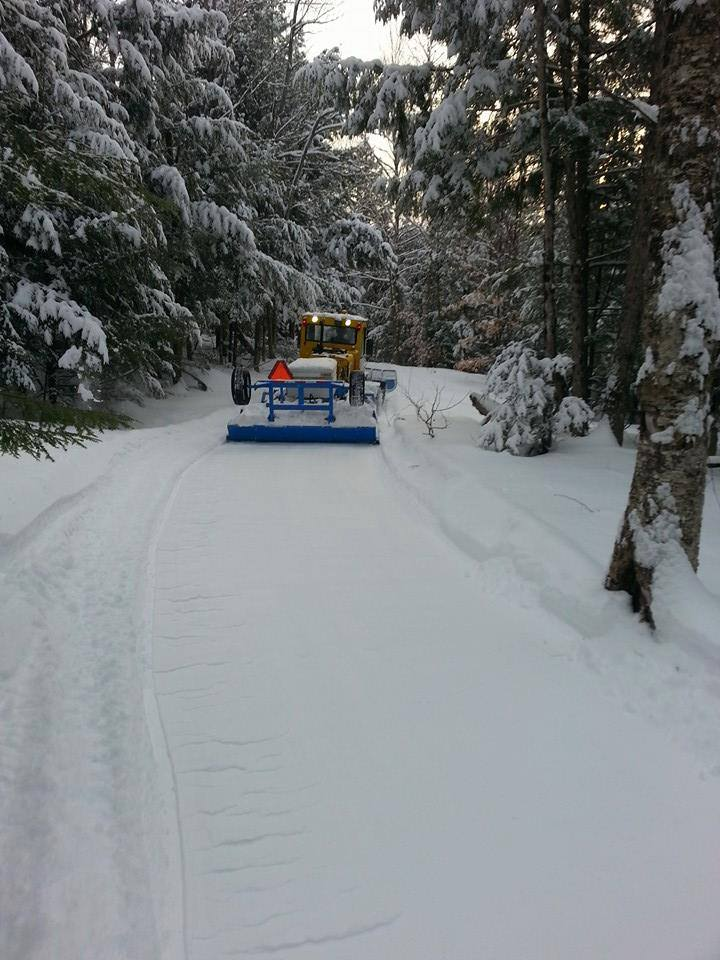 Groomers working the trail Wednesday