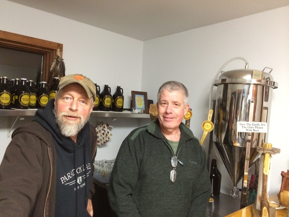 Dave and Paul in the PDX Brewery Tasting Room