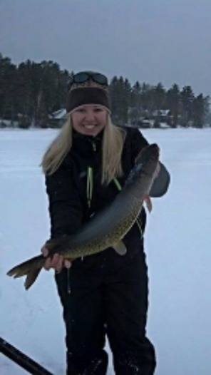 Photo Courtesy Schroon Lake Fish & Game Club. 2013 Derby Contestant Stacy Pruesser with her winning 4.8 pound pickerel. Nice catch!