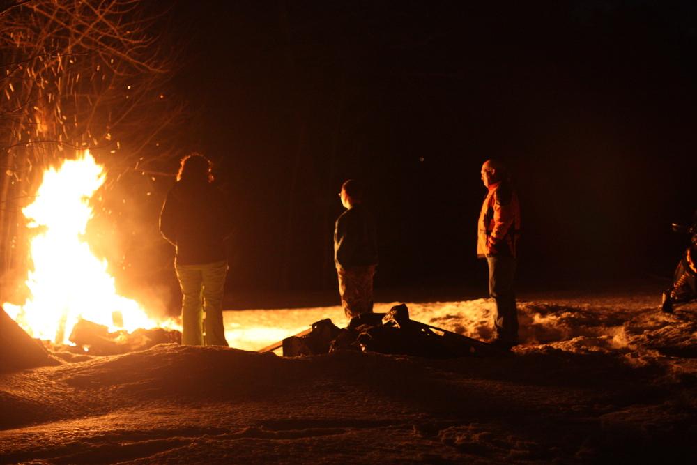 Bonfire (Courtesy Drew Hanchett) at the Schroon Lake Fish & Game Club