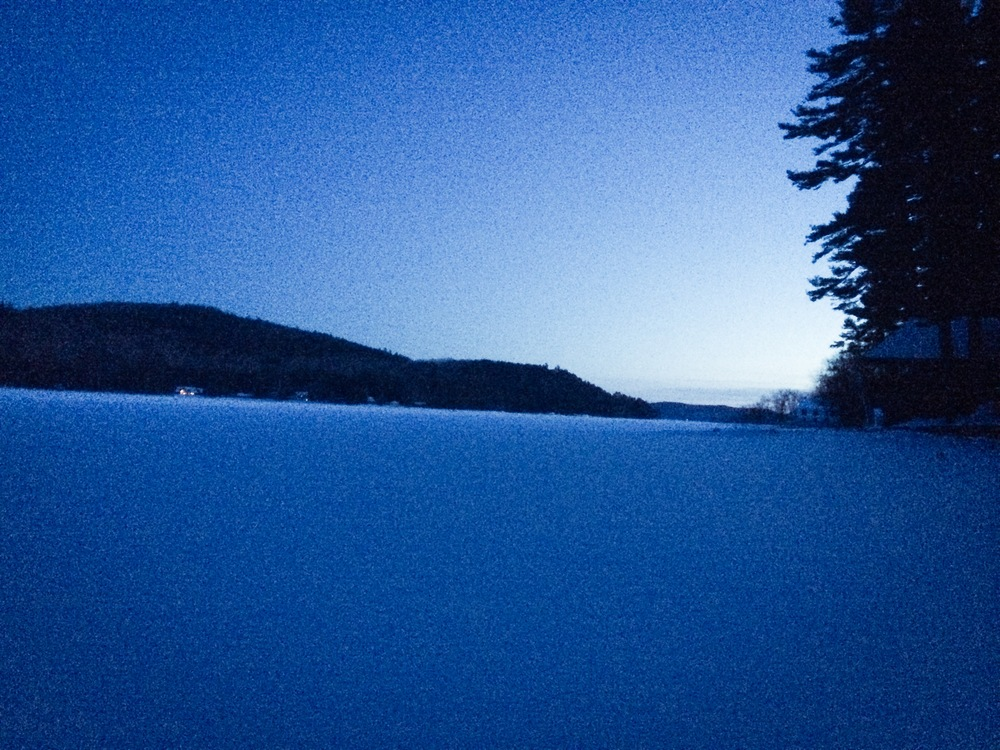 Dusk on Schroon Lake, Winter 2014