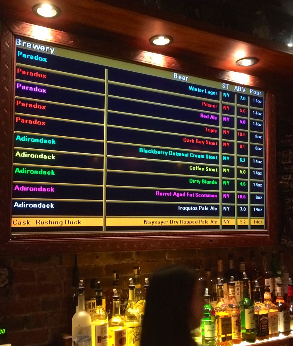 The beers of Paradox Brewery ruled at a recent ADK Beer tasting in NYC at the Pony Bar