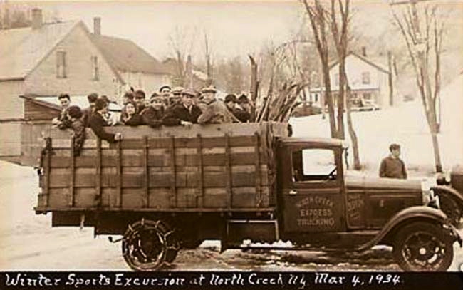 Passengers from The Gore -- then North Creek Snow Train -- in 1934