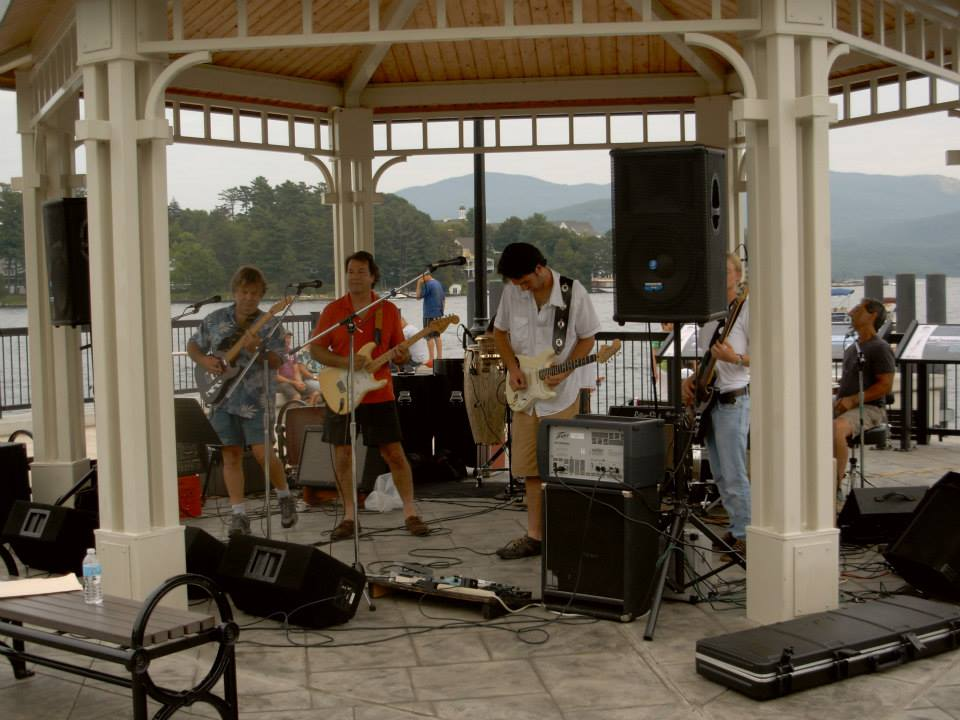 The Blue Moon Band plays Sticks & Stones on the lawn Friday night