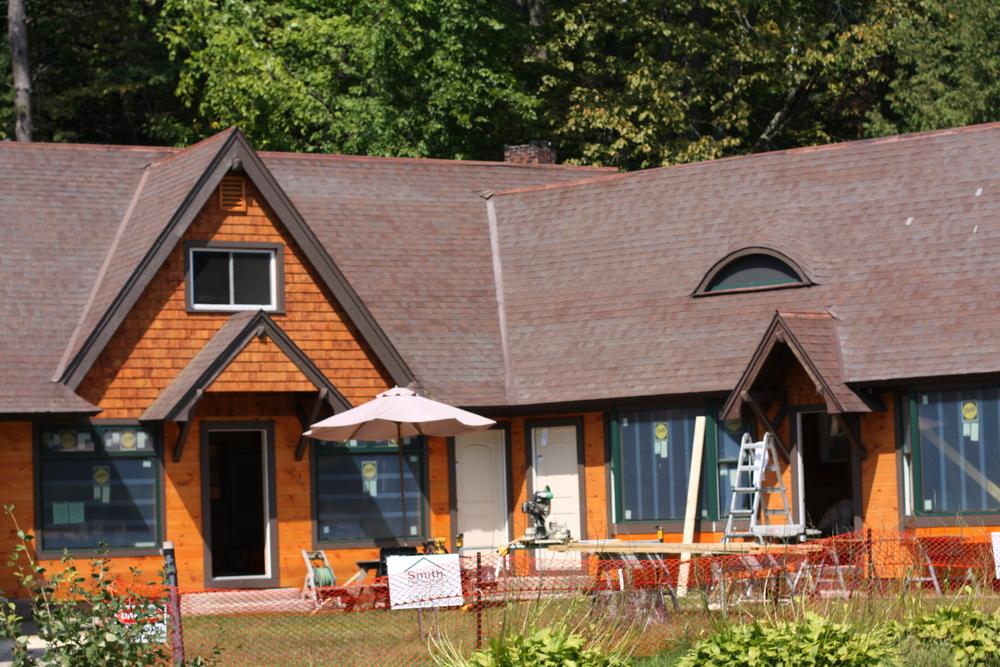 Adirondack Inn Schroon Lake under renovation. Summer 2014