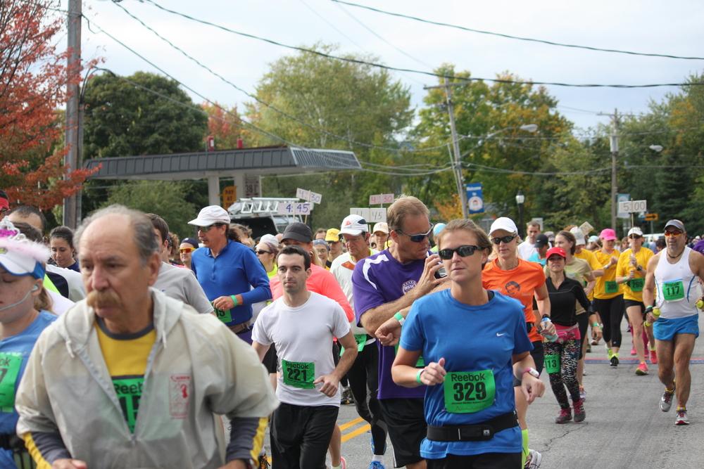 The start of the 2013 Adirondack Marathon