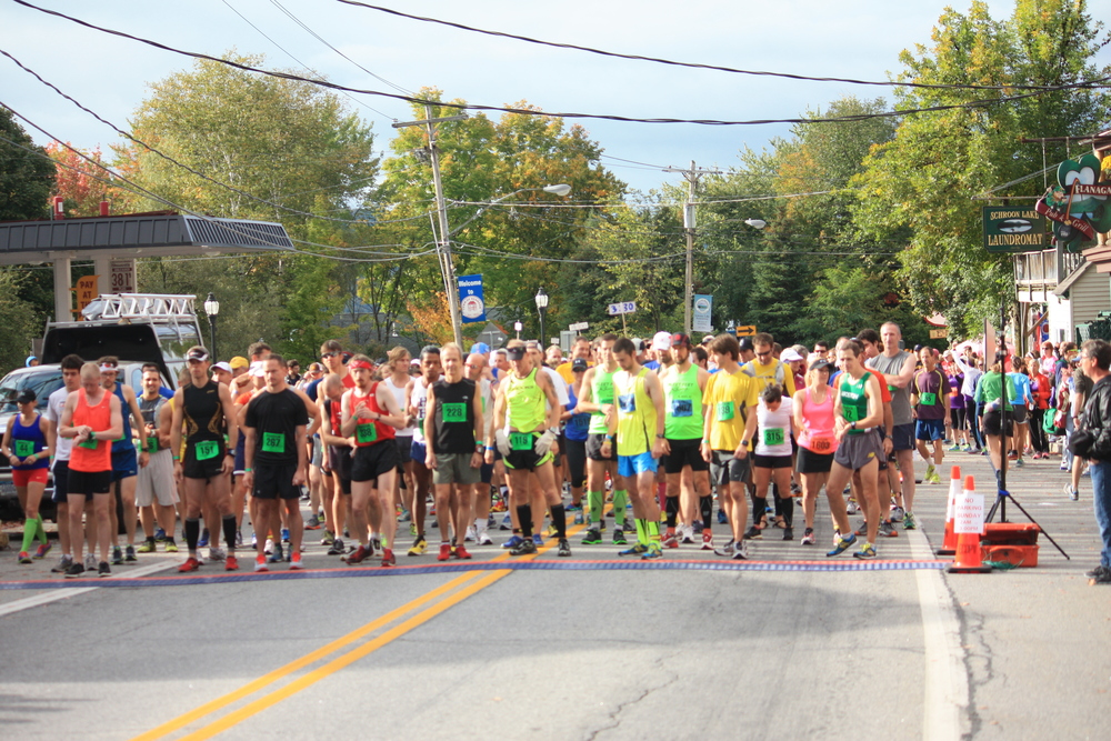 The 2013 ADK Marathon Start. Photo The Schroon Laker Connection