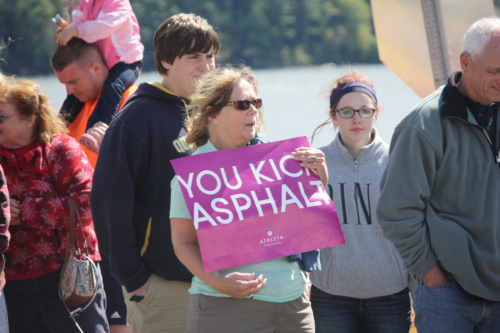 Spectators at the the 2013 ADK Marathon make a huge difference, cheering on runners. Photo The Schroon Laker Connection