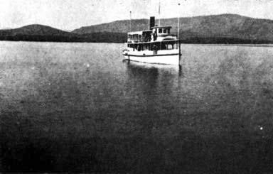 The Steamer Effingham. Photo courtesy Schroon-North Hudson Historical Society