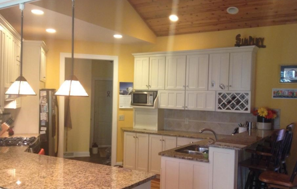 This gourmet kitchen is part of a custom built home on the market now in Schroon.