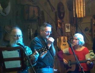 Tom, Eric and Linda -- jammin' at Witherbee's.