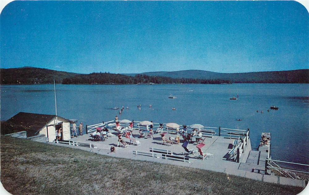 Schroon lake: Squeaky clean in the 1950s -- still pristine 50 years later.