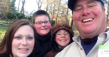 Supplied Photo: Phil and his family