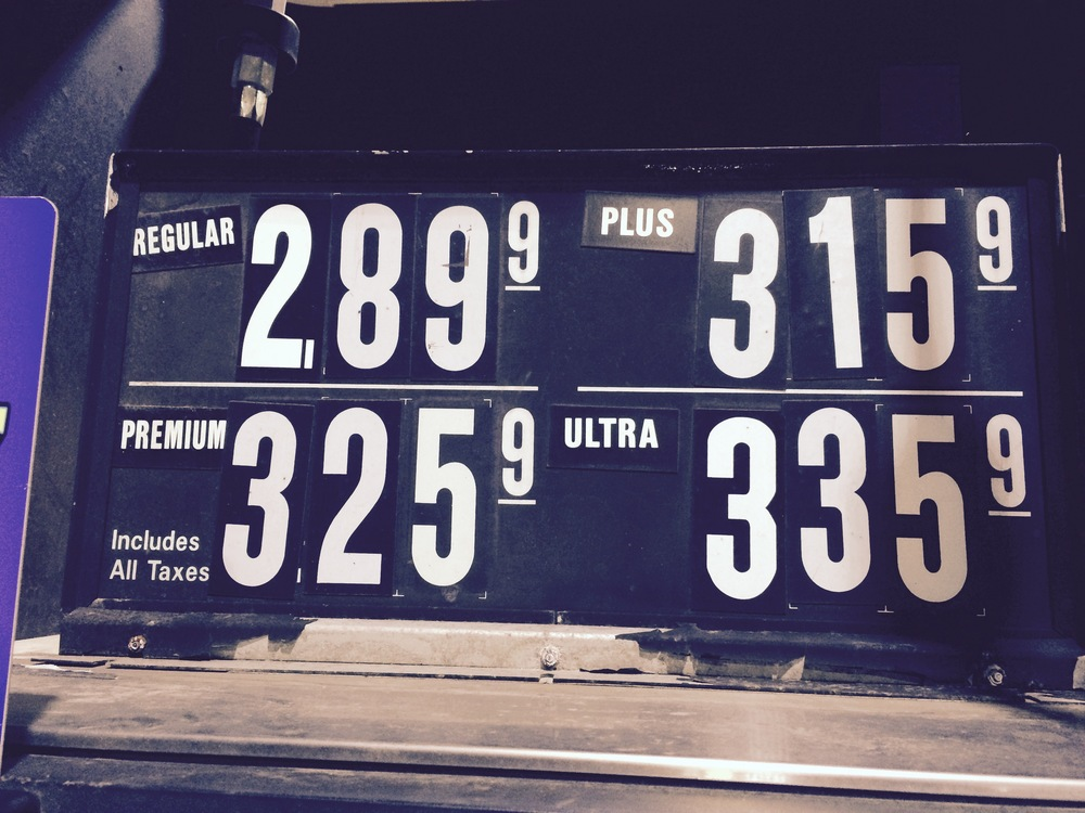 GAS PRICES AS OF DECember 29, 2014