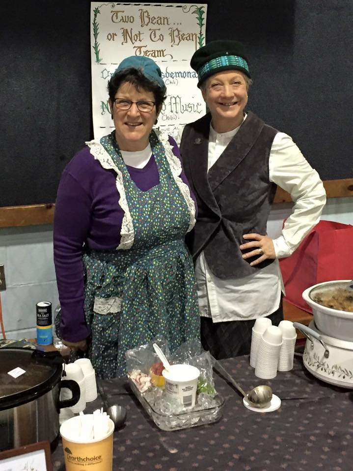 Photo by Joe Steiniger: Anne Gregson and Myriam Friedman: The Too Bean Or Not To Bean Chili Team.