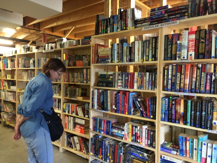 The newly renovated Book Store run by the Friends of Schroon Lake Library