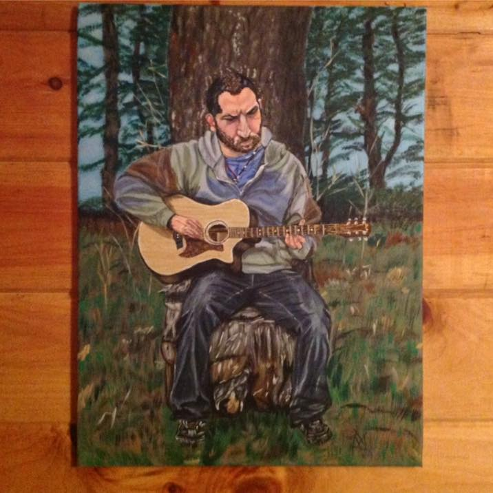There's a huge retro concert Saturday night at the Carol Theater, in Chestertown, part of Woofstock 2015. This painting is being donated by the very talented artist Kim Skoll, to be raffled off. Submitted photo.