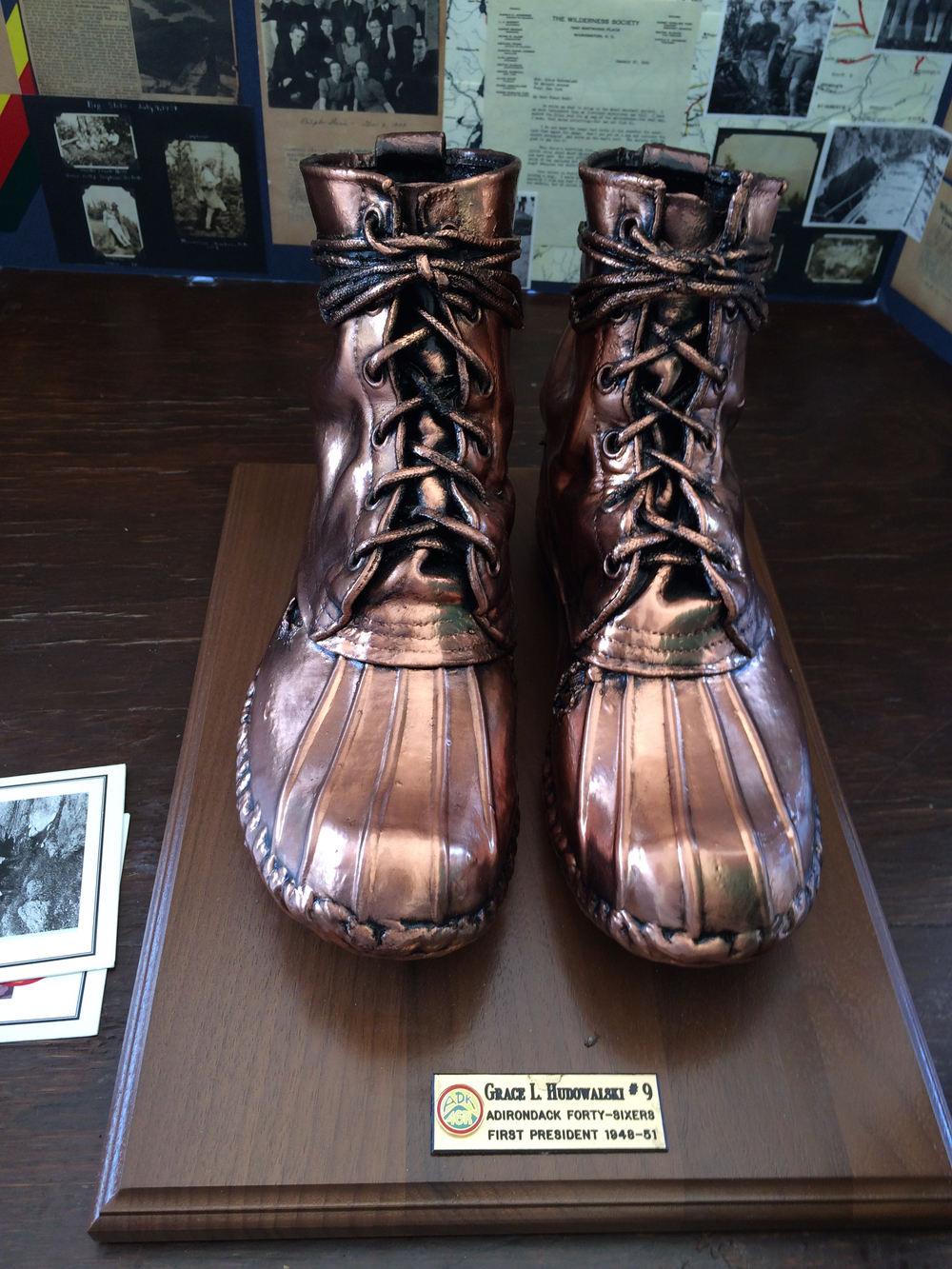Grace Hudowalski's boots in bronze. Schroon Laker Collection. Copyright 2015. All Rights Reserved.